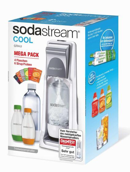 sodastream cool grey vorteilspack 4 x pet flasche 2x 1l 2x 0 5 1x co2 zylinder ebay. Black Bedroom Furniture Sets. Home Design Ideas