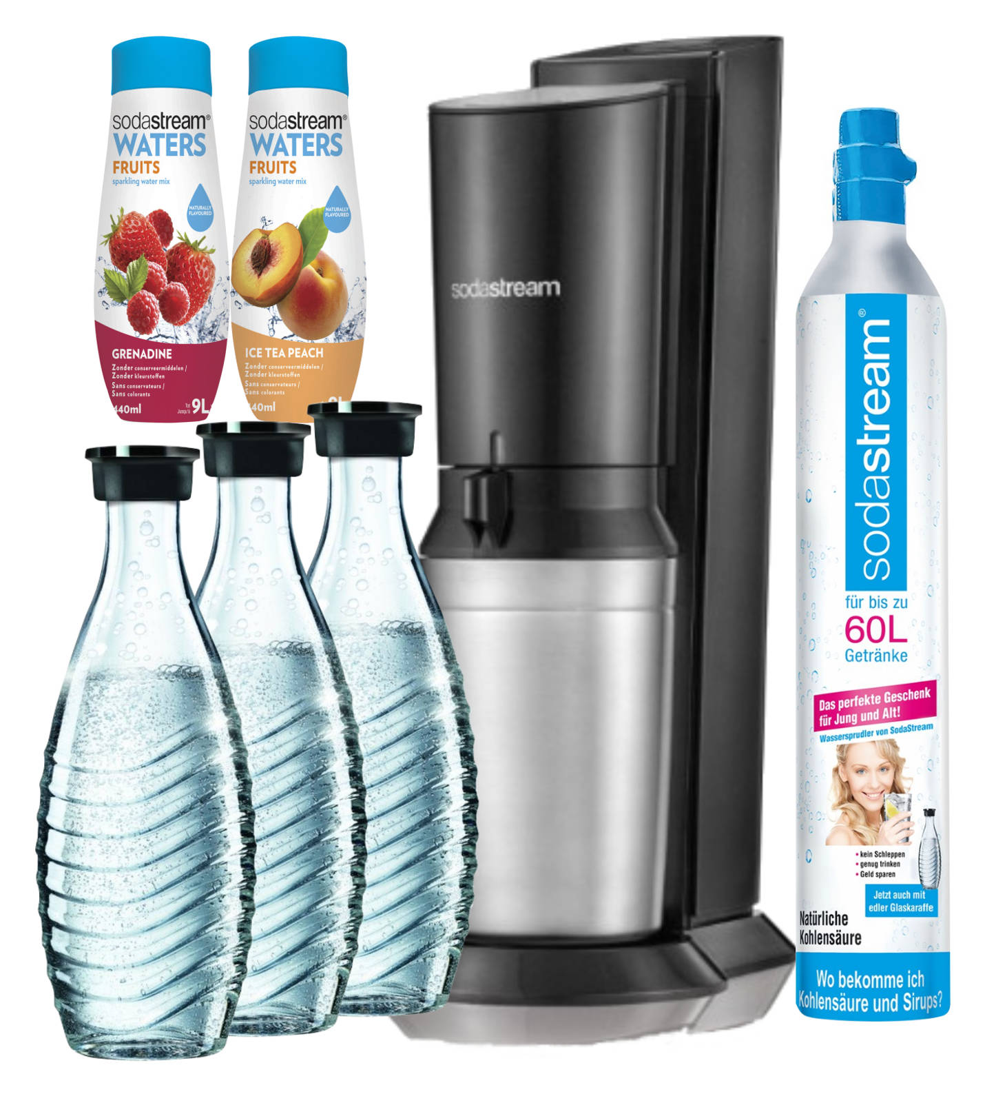sodastream crystal super spar pack wassersprudler 3. Black Bedroom Furniture Sets. Home Design Ideas